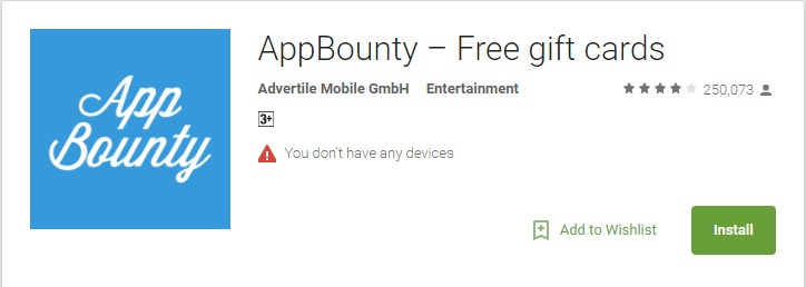 AppBounty – Free Gift Cards App Review – Legit or Scam – 9 to 5 Work