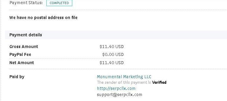serpclix payment 1